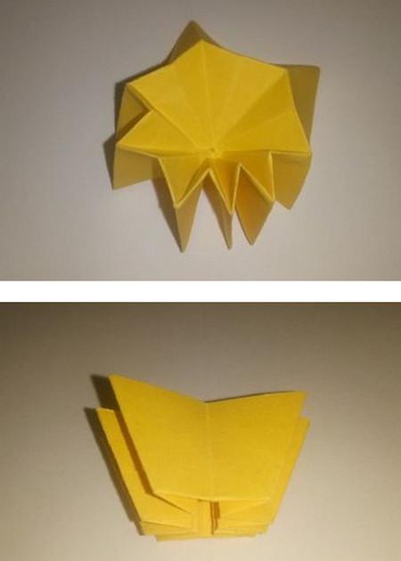 折纸太阳花步骤图解 手工折纸-第6张