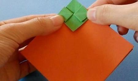柿子折纸步骤图解 手工折纸-第5张