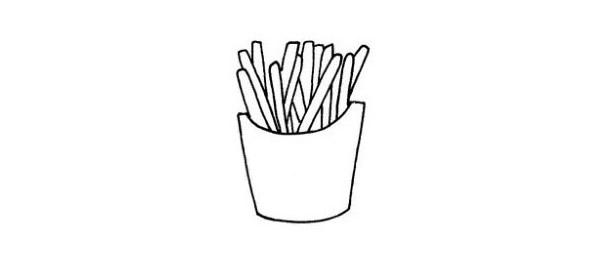 简单的薯条简笔画画法 初级简笔画教程-第6张