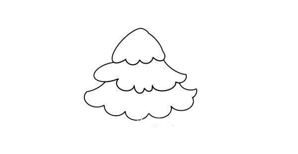 松树简笔画画法步骤图片 中级简笔画教程-第4张