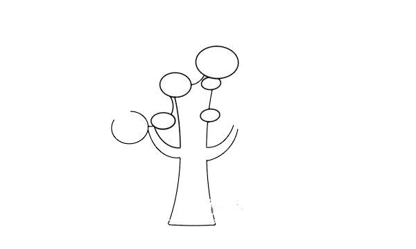 卡通大树简笔画步骤图 初级简笔画教程-第3张