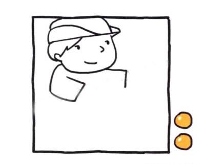 交警叔叔儿童简笔画画法 中级简笔画教程-第3张