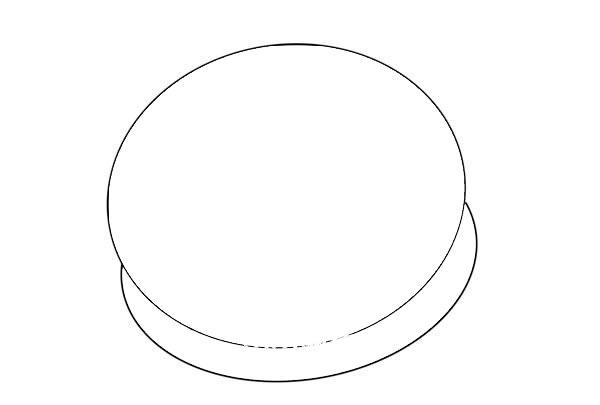 柿子饼简笔画画法步骤图片