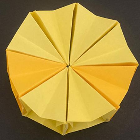 菠萝手工折纸方法图解 手工折纸-第11张
