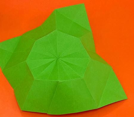 降落伞折纸方法图片大全 手工折纸-第12张