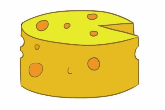 奶酪简笔画图片