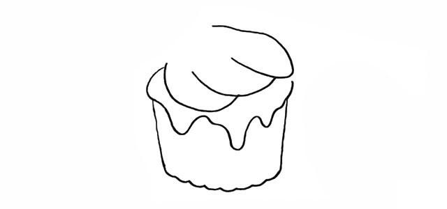 冰激凌简笔画步骤图