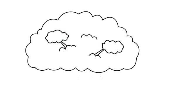 简单漂亮的大树简笔画图片 初级简笔画教程-第3张