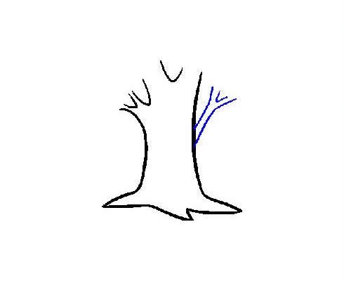 枝繁叶茂的大树简笔画步骤图片大全 植物-第6张