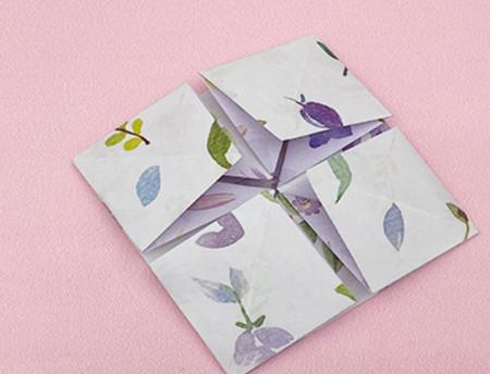 四角星折纸步骤图解 手工折纸-第6张