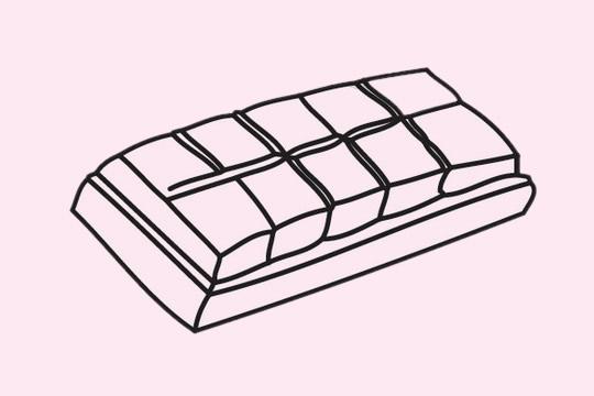 巧克力简笔画图片