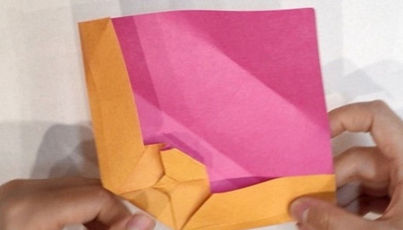长方形信封的折法图解 手工折纸-第10张