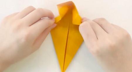 小猫立体折纸步骤图解法 手工折纸-第4张