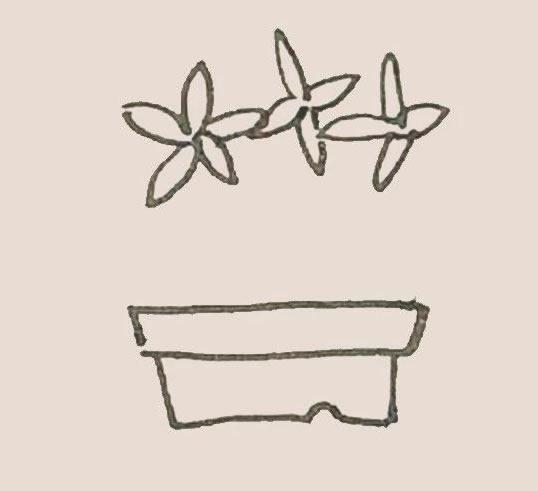 盆栽简笔画彩色画法步骤图解教程 初级简笔画教程-第3张
