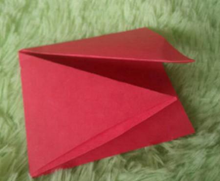 立体小金鱼的简单折法 手工折纸-第4张