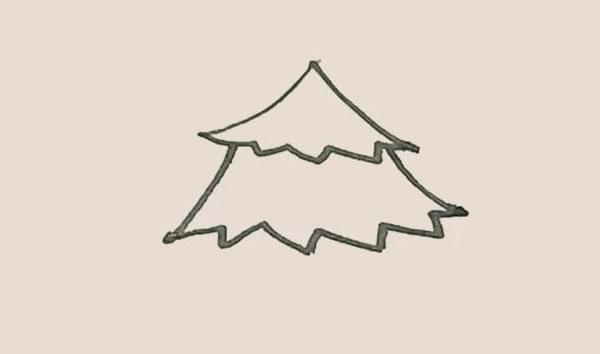 松树儿童简笔画简单好看 中级简笔画教程-第4张