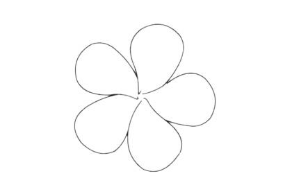 鸡蛋花分步骤简笔画画法 初级简笔画教程-第5张