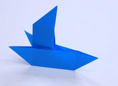 儿童手工折纸帆船折法图解 手工折纸-第1张