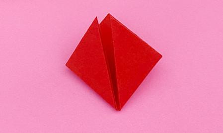 折纸樱桃步骤图解法 手工折纸-第5张