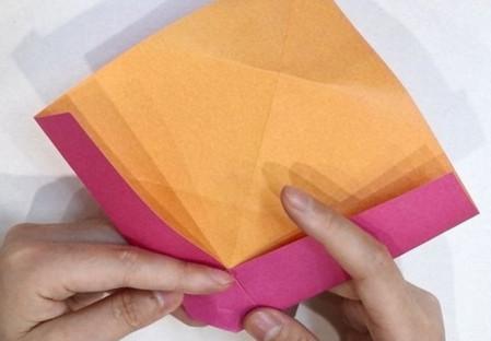长方形信封的折法图解 手工折纸-第6张
