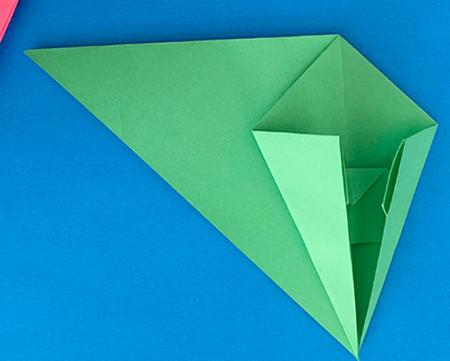 哈巴狗折纸步骤图解 手工折纸-第8张
