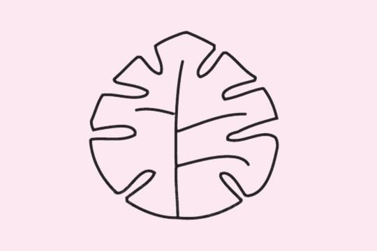 教小朋友画简单的树叶简笔画 初级简笔画教程-第5张