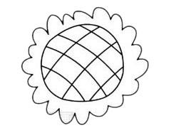 向日葵简笔画简单画法步骤教程及图片大全 植物-第4张