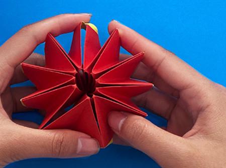 立体无限翻转手工折纸图解 手工折纸-第1张