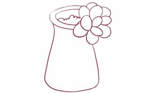 多肉植物简笔画分步骤画法 中级简笔画教程-第6张