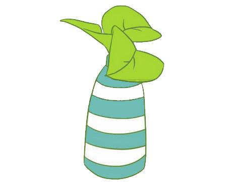 绿萝简笔画画法,绿色植物简笔画 中级简笔画教程-第9张