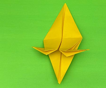 乌鸦手工折纸步骤图解 手工折纸-第10张