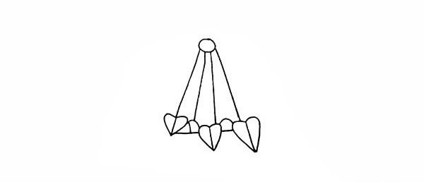 吊兰画法步骤 绿萝吊兰简笔画彩色画法步骤图教程 植物-第5张
