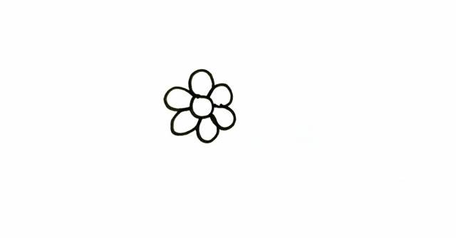 一素鲜花简笔画画法步骤图片 植物-第2张