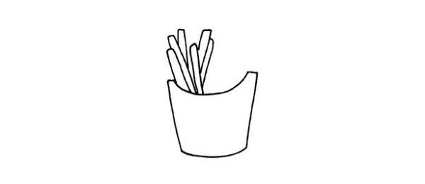 简单的薯条简笔画画法 初级简笔画教程-第4张