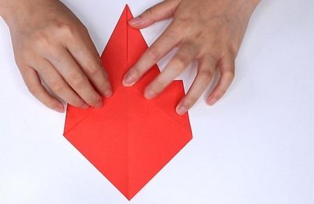 用纸折扇子的方法步骤图片 手工折纸-第4张