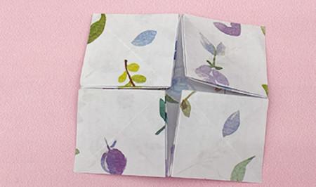 四角星折纸步骤图解 手工折纸-第8张