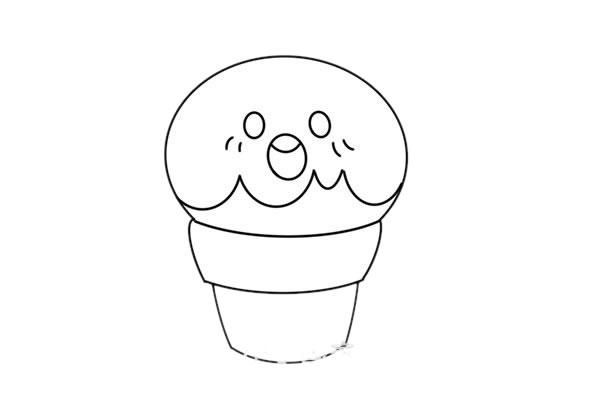 卡通草莓甜筒简笔画画法图片