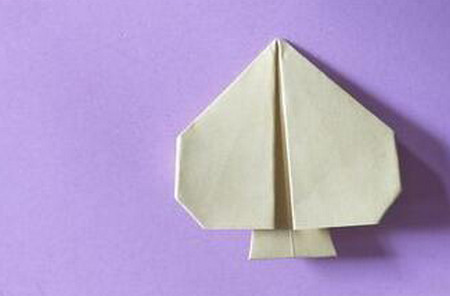 桃心折纸步骤图解 手工折纸-第1张