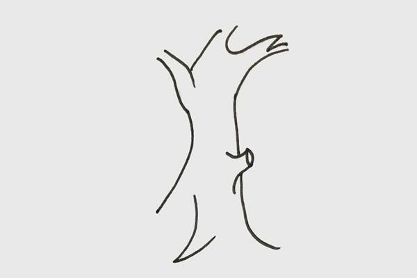 彩色大树简笔画步骤 初级简笔画教程-第2张