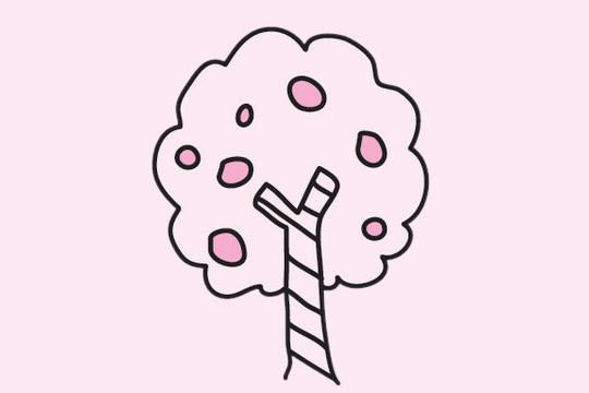 果树简笔画画法步骤图 中级简笔画教程-第8张