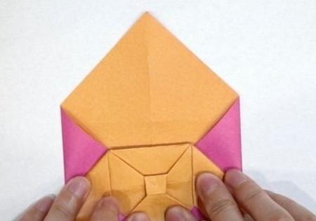 长方形信封的折法图解 手工折纸-第11张