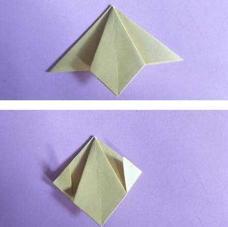 桃心折纸步骤图解 手工折纸-第7张