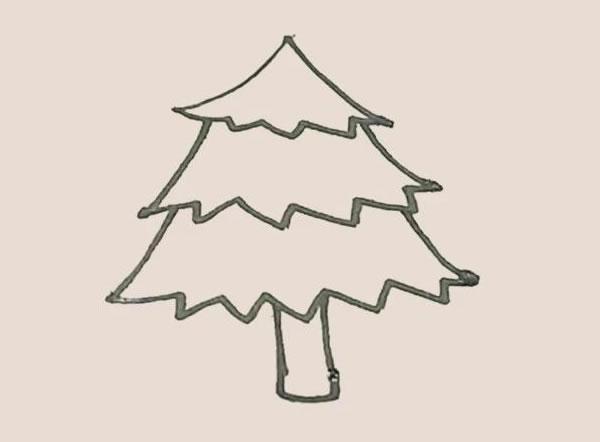 松树儿童简笔画简单好看 中级简笔画教程-第6张