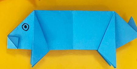折纸小猪的步骤图解 手工折纸-第1张