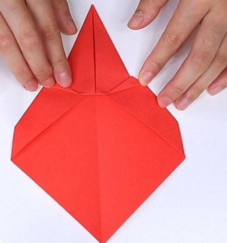 用纸折扇子的方法步骤图片 手工折纸-第8张