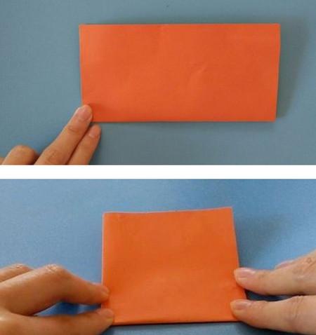 柿子折纸步骤图解 手工折纸-第3张