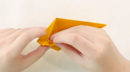 小猫立体折纸步骤图解法 手工折纸-第8张