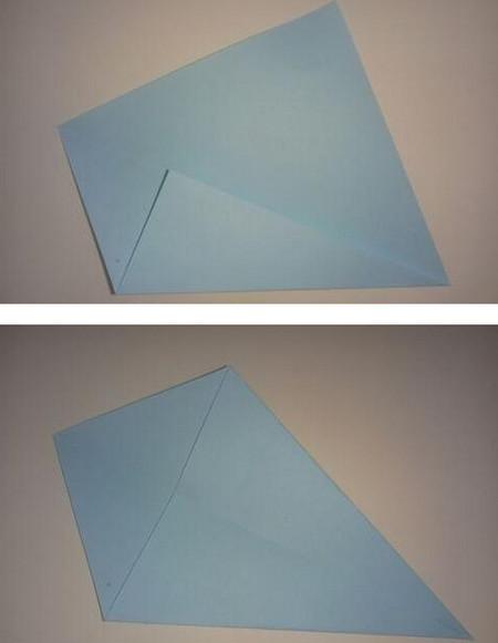 鲸鱼折纸步骤图 手工折纸-第3张