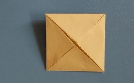小椅子折纸步骤图解 手工折纸-第4张