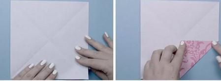 荷花怎么折简单又漂亮教程 手工折纸-第2张